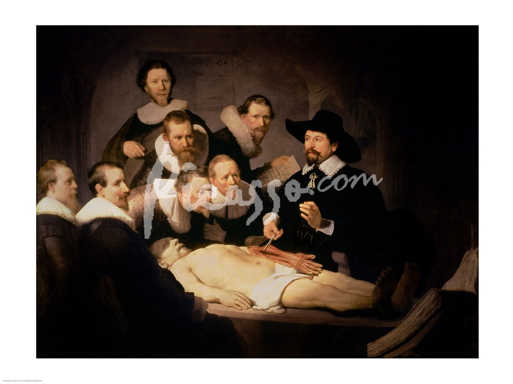 The Anatomy Lesson of Dr. Nicolaes Tulp, 1632 Fine-Art Print by ...
