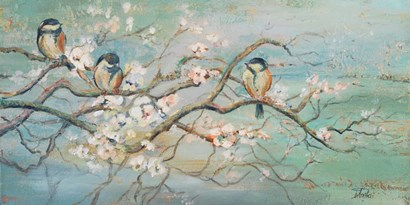 Spring Branch with Birds by Patricia Pinto art print