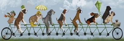 Mutley Crew on Tandem by Fab Funky art print