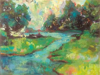 Landscape in the Park by Jeanette Vertentes art print