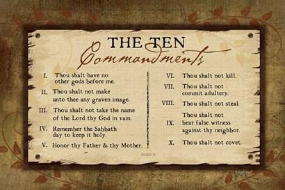 10 Commandments II by Jennifer Pugh art print