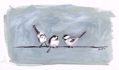 Birds on a Wire I by Molly Susan Strong art print