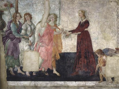 Venus and the Graces Offering Gifts to a Young Girl by Sandro Botticelli art print
