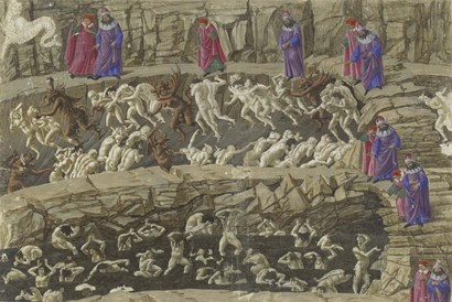 Illustration to the Divine Comedy by Sandro Botticelli art print