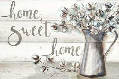 Farmhouse Cotton Home Sweet Home by Tre Sorelle Studios art print