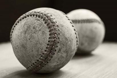 Old Baseballs by Edward M. Fielding art print