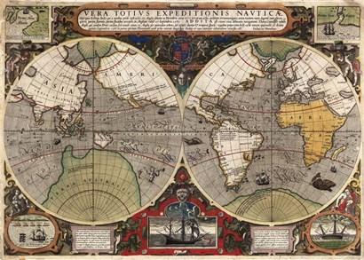 Vera Totius Expeditionis Nauticae by Jodocus Hondius art print