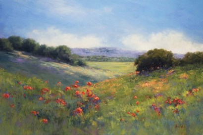 Poppies with a View by Alice Weil art print