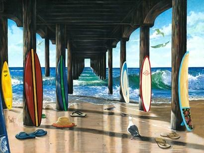Pier Group by Scott Westmoreland art print