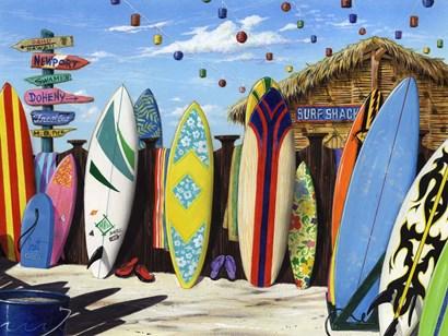 Surf Shack by Scott Westmoreland art print