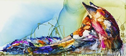 Thinking Outside the Fox by Art by Leslie Franklin art print