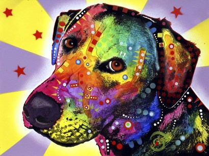 Yellow Sorta Lab by Dean Russo art print