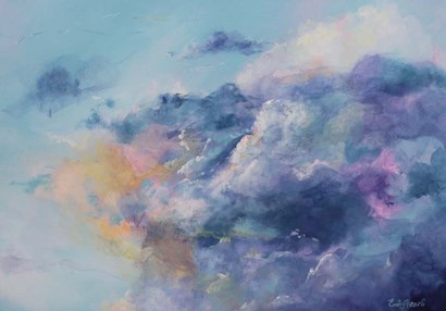 In the clouds by Emily Louise Heard art print