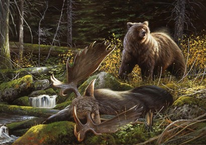 In the Land of Giants by Lambson's Wildlife Art art print