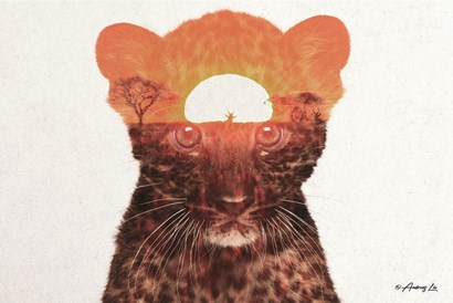 Leopard with Sun by Andreas Lie art print