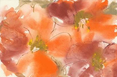 Tribal Lilies I by Chris Paschke art print