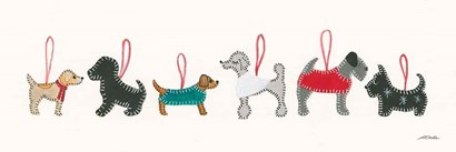 Holiday Dog Ornaments by Patsy Ducklow art print