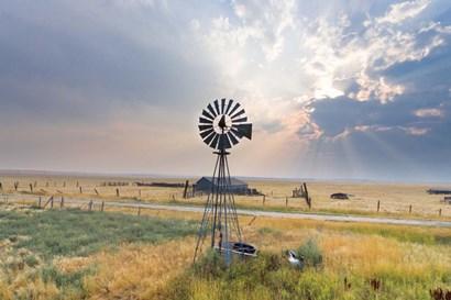 Windmill Sunset by Annie Bailey Art art print