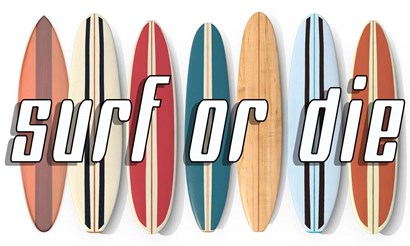 Surf of Die by Edward M. Fielding art print