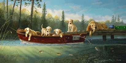 Fishing Lesson by Terry Doughty art print