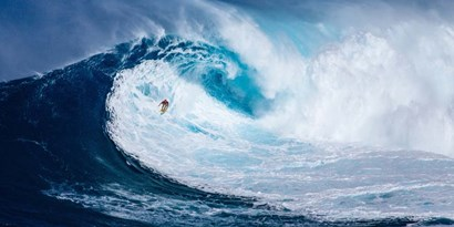 Surfing the Big Wave, Tasmania (detail) by Pangea Images art print