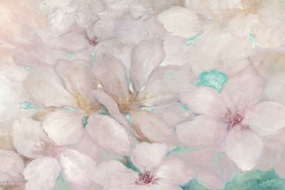 Apple Blossoms Teal by Julia Purinton art print