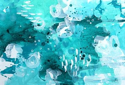 Ocean Mediation by Sue Allemond art print
