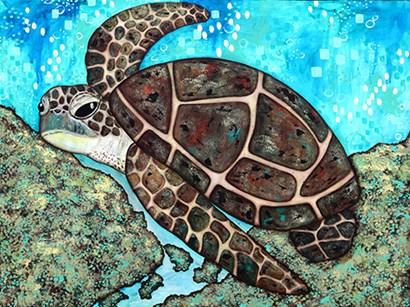 Swimming Along by Sue Allemond art print