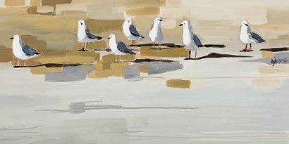 Late Afternoon Gathering ? by Angela Maritz art print