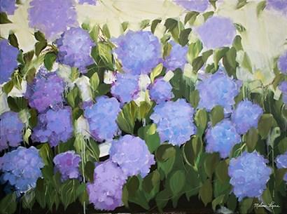 Purple and Blue Hydrangeas by Melissa Lyons art print