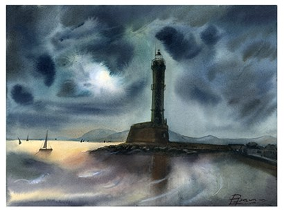 Lighthouse by Olga Shefranov art print