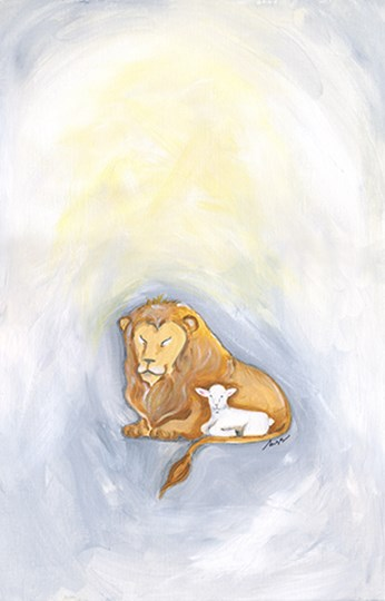Lion and Lamb by Molly Susan Strong art print