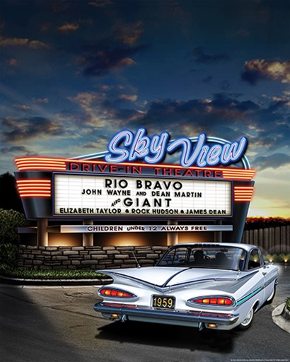 Skyview Drive In by Yellow Café art print