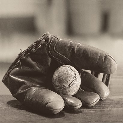 Ball in Mitt by Yellow Café art print