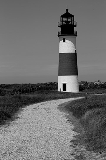 Black and Lighthouse by Yellow Café art print