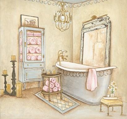 French Modern Bath I by Yellow Café art print