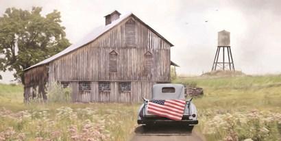 Flag on Tailgate by Lori Deiter art print