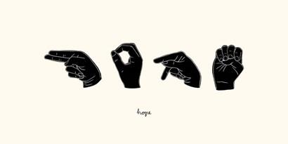 Sign Language II by Emma Scarvey art print