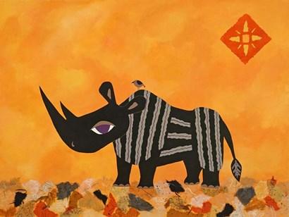 Rhino with Summer Sky by Casey Craig art print