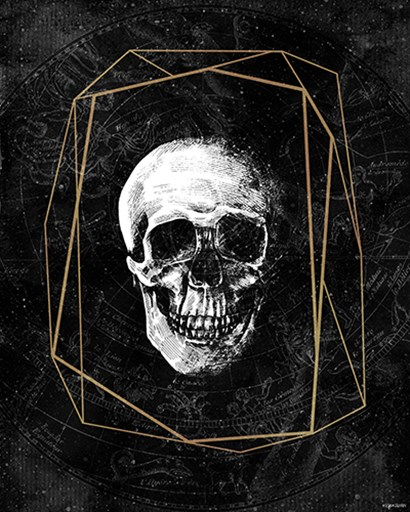 Cosmic Skull by Kyra Brown art print
