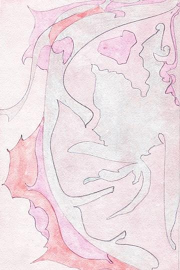 Pink Abstract I by Mela Fay art print