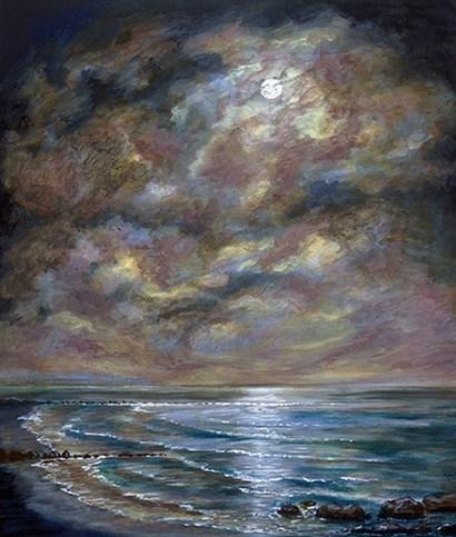 Moody Moon Light I by Sandra Francis art print