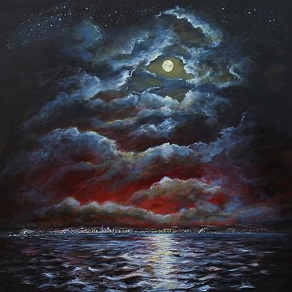 Moody Moon Light II by Sandra Francis art print