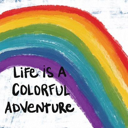 Colorful Adventure by Linda Woods art print