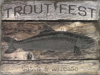 Trout Fest by Graffitee Studios art print