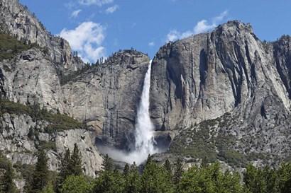 View Of Yosemite Falls In Spring, Yosemite National Park, California by Panoramic Images art print