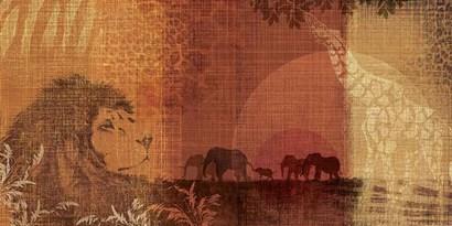 Safari Sunset II by Tandi Venter art print