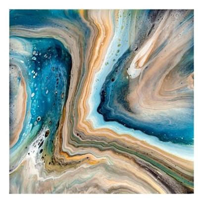 Blue Agate Geode by Ocllo Mason art print