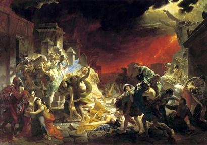 The last Day of Pompeii, 1833 by Karl Briullov art print