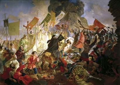 The Siege of Pskov by Stephen Bathory in 1581, 1839-1843 by Karl Briullov art print